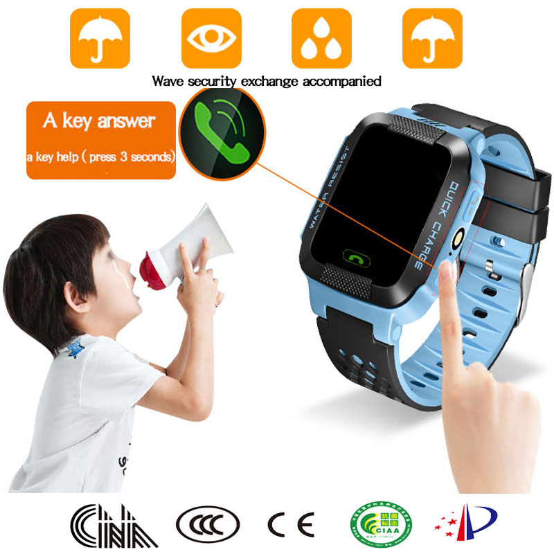 factory price smart children students locator tracker anti-lost smartwatch gps wifi watch with lighting