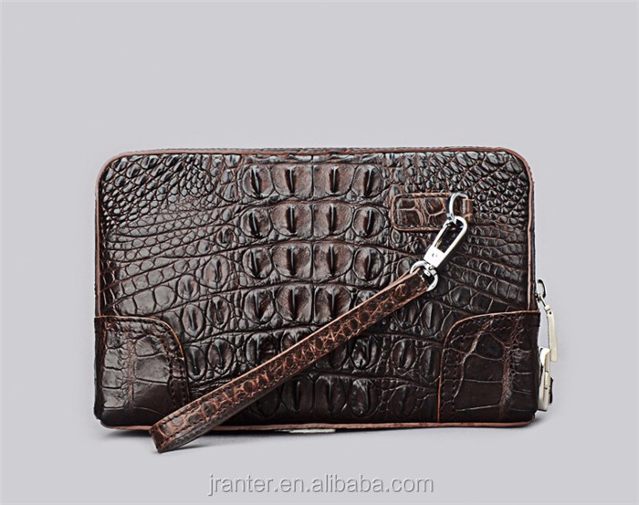 Fashion Luxury Crocodile Clutch Wallet for Men Wholesale Leather Clutch Bag