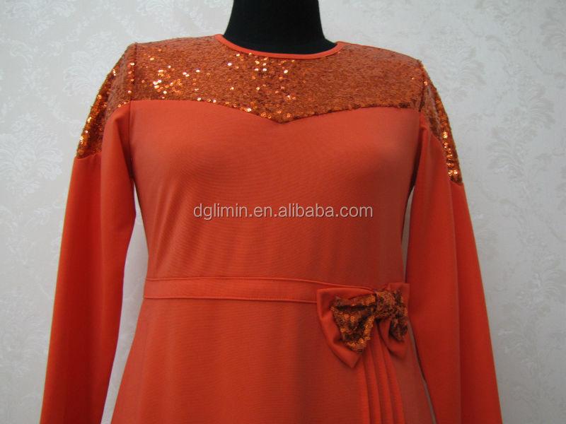 Orange Abaya Kaftan Shoulder Sequined Kaftan Abaya Wasitband Abaya ...