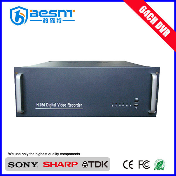 manufacture client software 64 channels 5 HDD cctv dvr factory BS-H64K