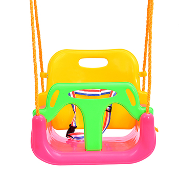 Outdoor Garden Pink 3 In 1 Baby Swing Chair Set For Children Toy