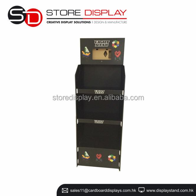 licht stax anzeige regal spielzeug anzeige schaufenster karton pop display mit video player. Black Bedroom Furniture Sets. Home Design Ideas