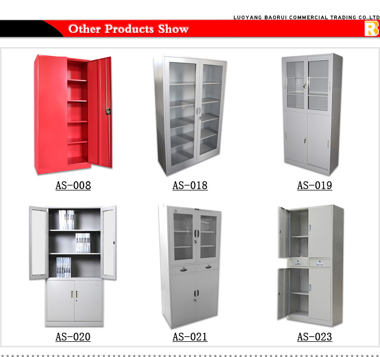 Low height cheap price steel kitchen office storage for Cheap metal kitchen cabinets