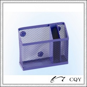 metal mesh office magnetic pen stand
