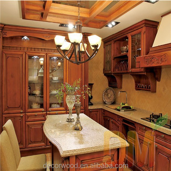 Royal Kitchen Old Fashion Wooden American Cabinets