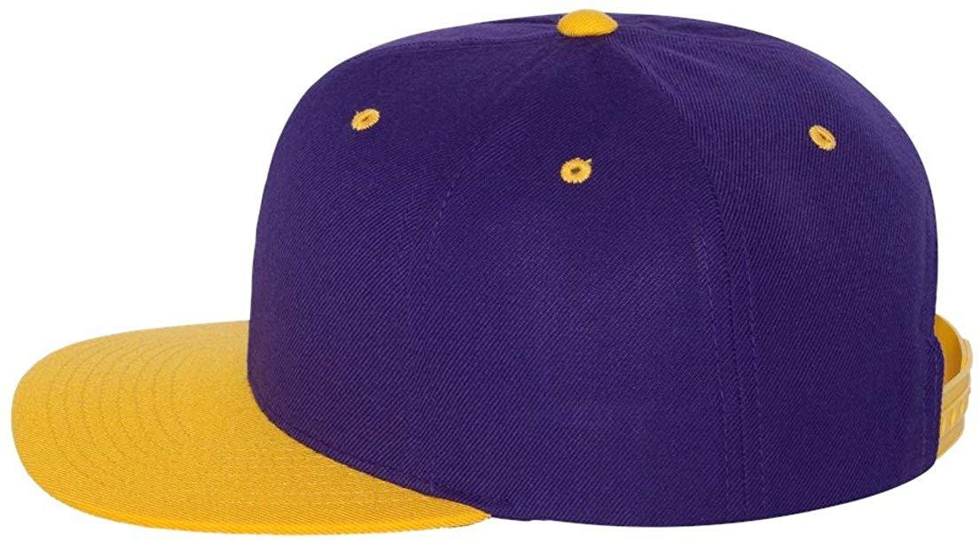506e6a7e500 Get Quotations · Wholesale Wool Blend Flexfit Yupoong Flat Bill Blank Snapback  Hats (Two-Tone