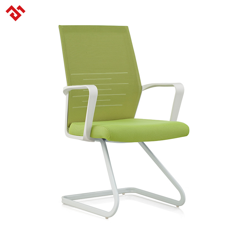 Fashion White Frame Reception Visitor Chair on Sale