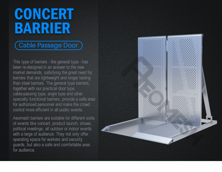 AEOBARRIER snake runner Concert Barrier