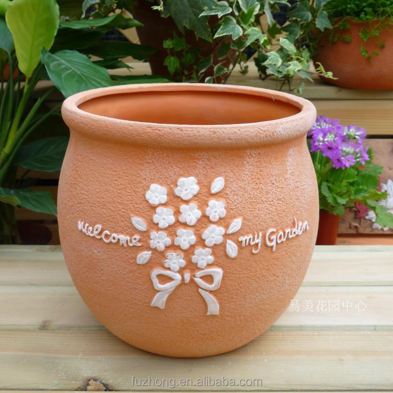 Garden round terracotta plant pot wholesale clay flower for 6 ceramic flower pots