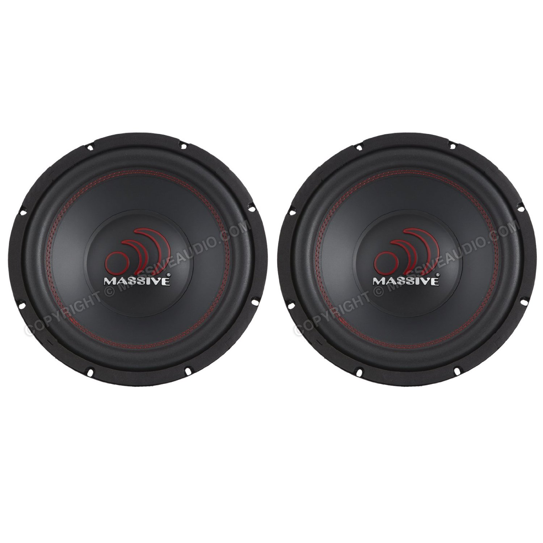 """2 X New Massive Audio 12"""" Dual 4-Ohm TKO Series Car Audio Subwoofer sub (Pair)"""