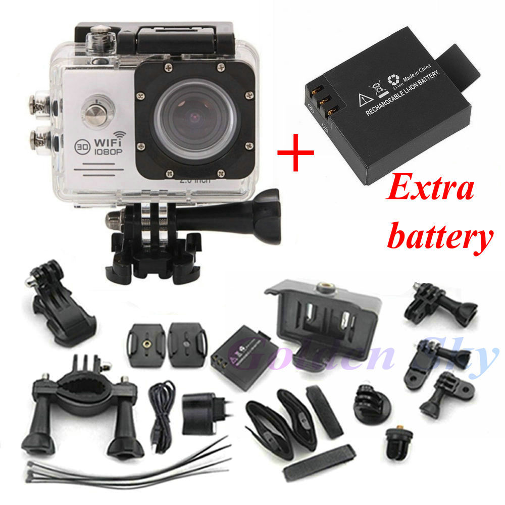 mini camcorders wifi Gopro style Full HD DVR video Sport go pro camera extreme Waterproof Helmet WIFI Action Camera