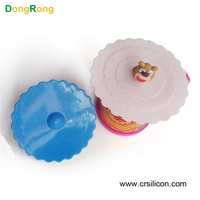 High quality decorative fashion beautiful custom oem design unique silicone reusable plastic cups lids