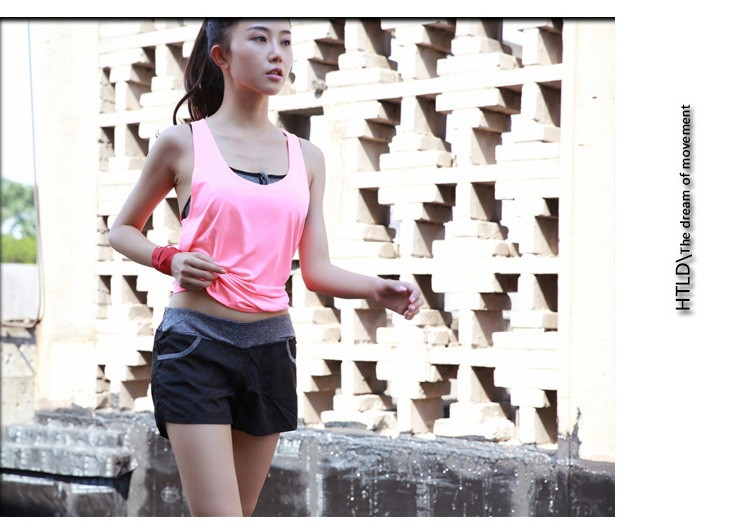 Summer Fitness Sportswear Yoga Running Tank Top Split Back Outdoor Shirt