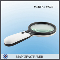 Minghao 6902B Cheap lightweight mini Plastic PVC Plastic Material Large Map Checking Magnifier magnifier glass