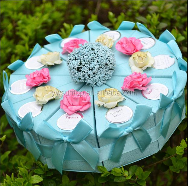 Wholesale Fancy Cake Shaped Paper Box Wedding Candy Gift Box