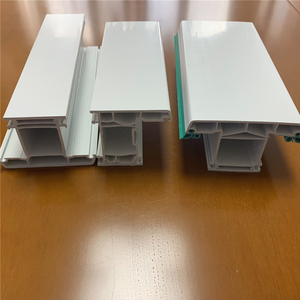 plastic pvc frame profile 60 casement series laminated pvc sliding profile