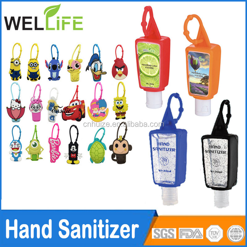wholesale price FDA Approved 60ml Antibaterial Gel Hand Sanitizer with Cozy Clip