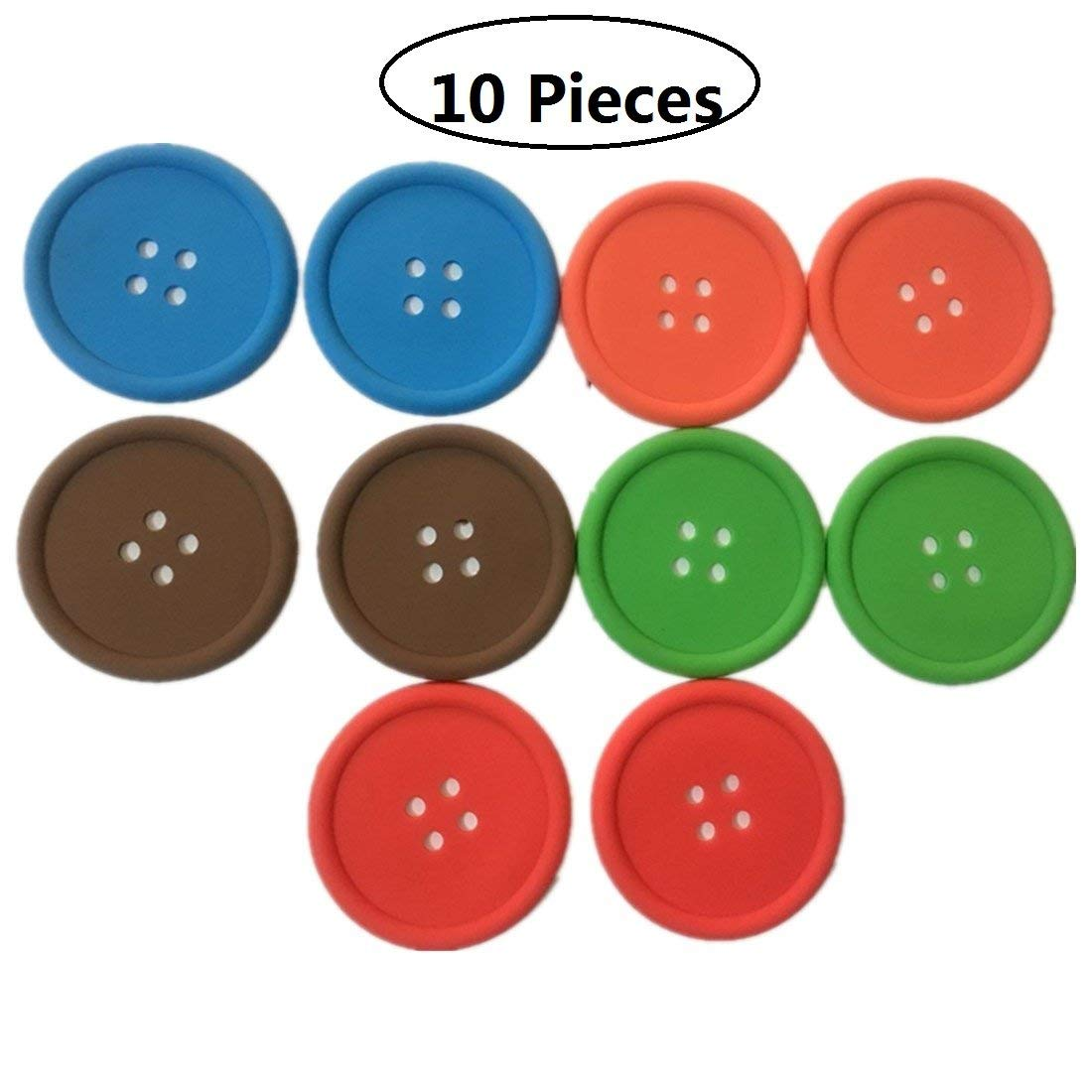 Get Quotations Tsuen Non Slip On Coasters For Drinks 10 Pieces Anti Silicone Coffee