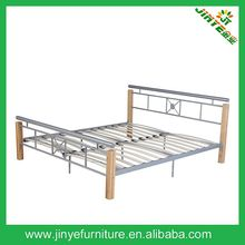 twin iron steel bed with wood slats (MCZ-10)