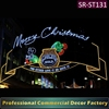 Custom commercial main street LED lighted Merry Christmas silhouette decoration