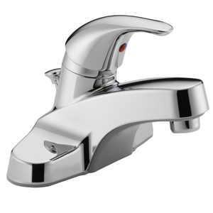 Single-Handle Commercial Faucet,Washerless Cartridge Bathroom Tap Faucet with water filter Pop-Up Drain Assembly, Chrome Finish