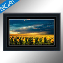 Beautiful home wall decor natural sunflower sea print painting flowers scenery canvas picture