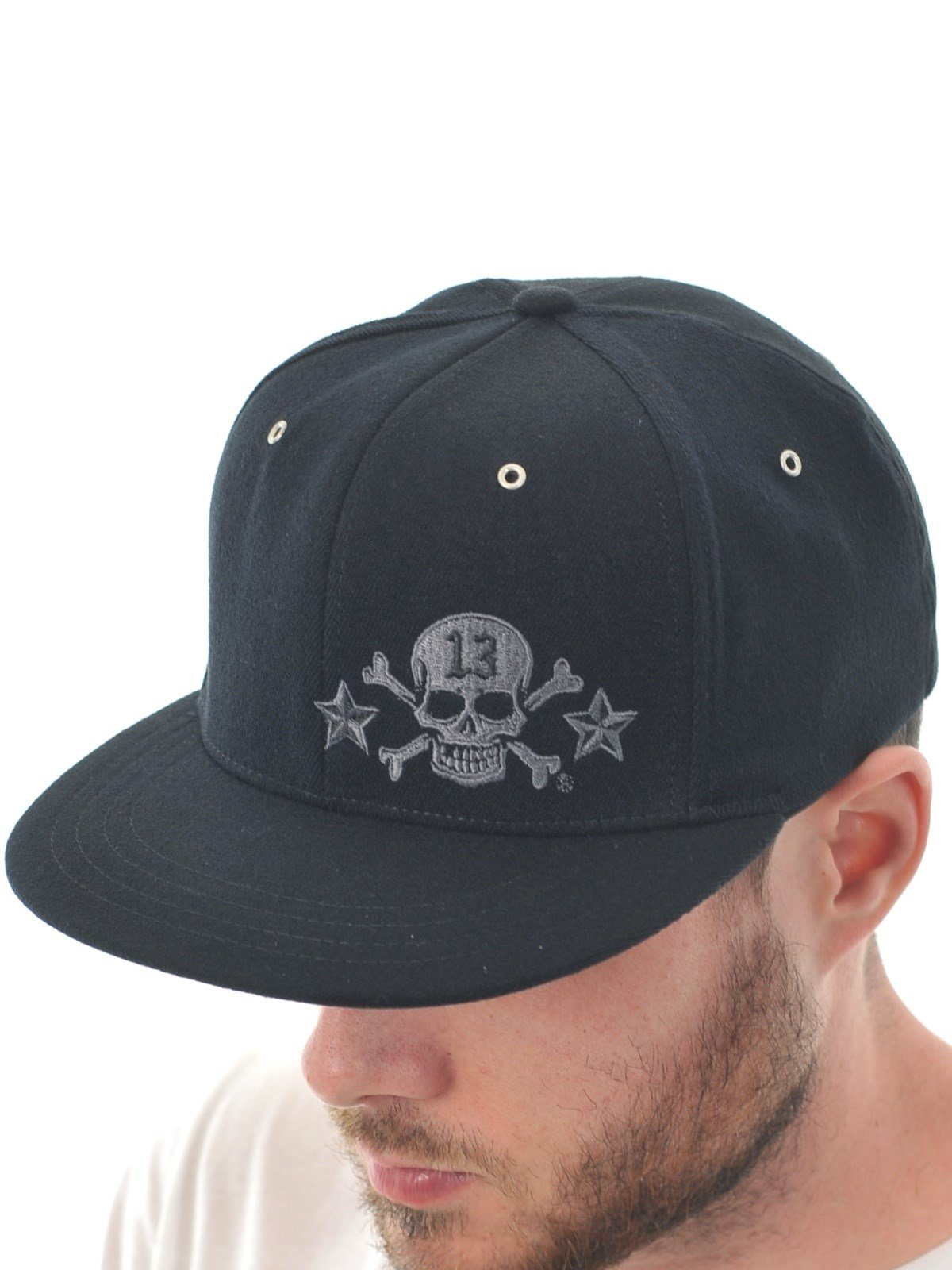f4c31e61726aa ... switzerland get quotations lucky 13 skull thirteen metal rivet flexfit  hat lctfm8st 1 black black d3cbe