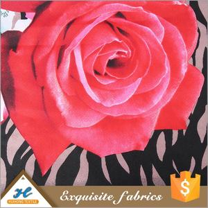 Factory Price Anti-Static Disperse Printed Polyester red rose taffeta printed fabric
