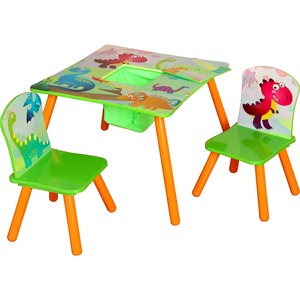 2018 dinosaur wooden kids furniture wooden table and chair set