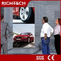 Richtech aluminum scrolling exhibition use roll up banner stand with projector