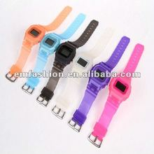 Fashion square electric watch, Plastic wristband watch