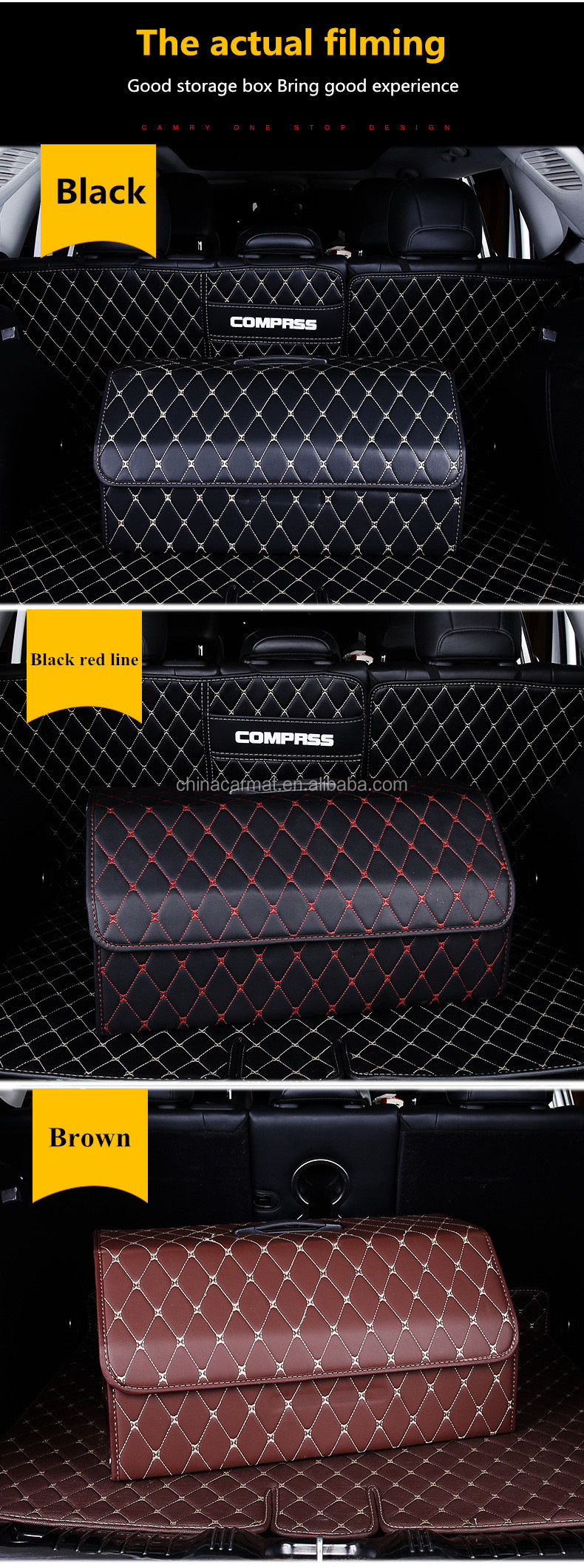 2018 Popular Collapsible Trunk Organizer Car Storage Box