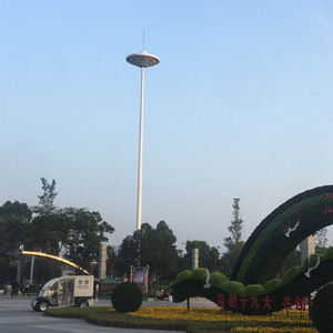 Hot Dip Galvanized Round Type Steel Tapered Stadium Light Poles