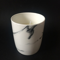 hand poured natural vegetable wax white ceramic jar aromas candle
