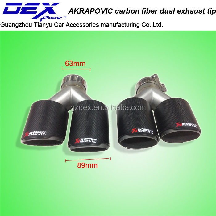 Customized Carbon Fiber Akrapovic universal exhaust tips