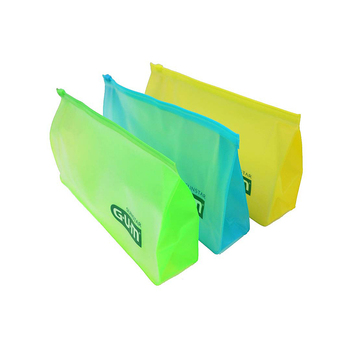 Custom Waterproof Plastic Cosmetic Zipper Bags Transparent PVC Pouch Ziplock Make Up Bag Portable Makeup Packaging Pouches
