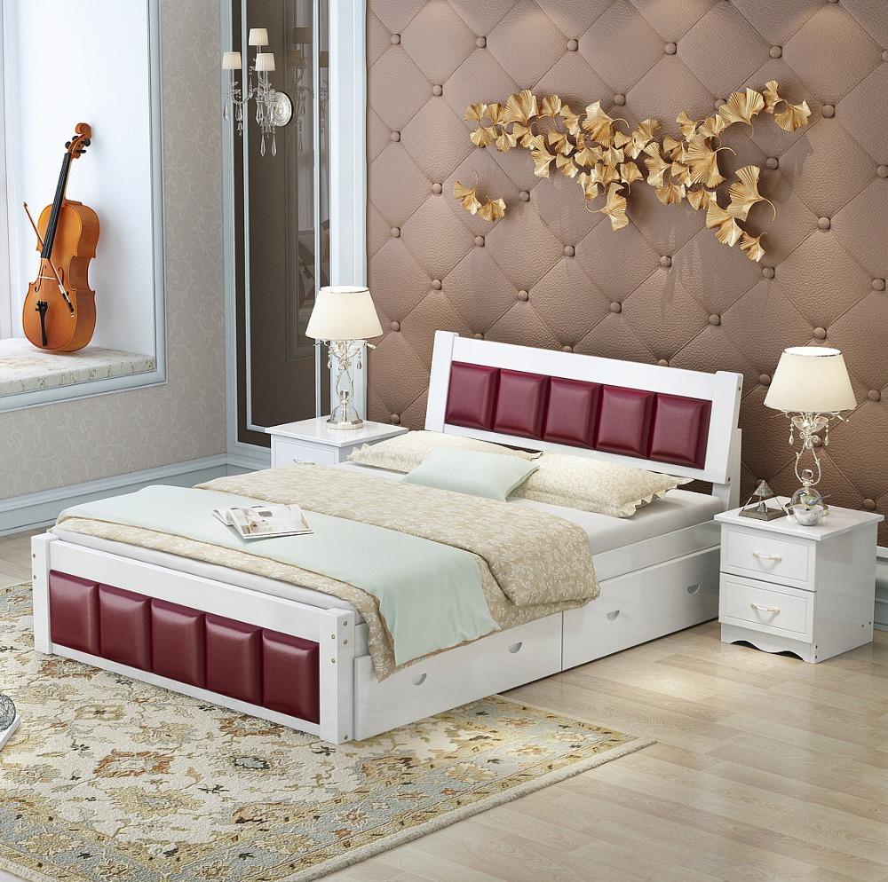Venta al por mayor camas en madera rustica compre online for Cama rustica de madera