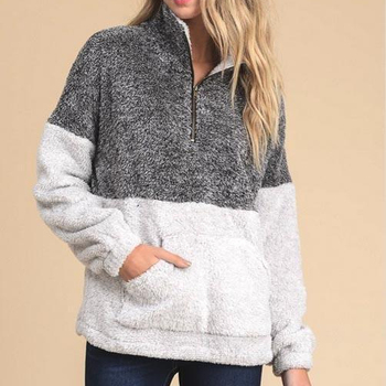 Wholesale Monogram Two Tone Sherpa pullover
