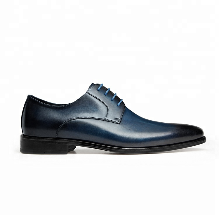Oem Men Official Formal Oxfords Nice Good Dress Genuine Leather Shoes Latest Italian Mens Office Lace Up Black