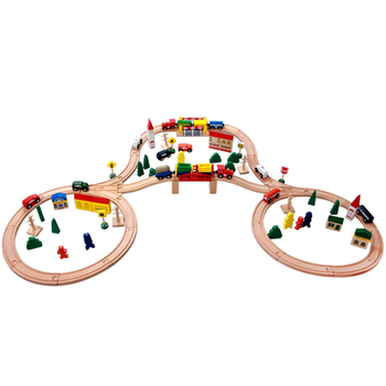 Attractive Children Race Track Whistle Wooden Slot Toys For 1 Year Old Buy Slot Toywooden Train Trackwooden Train Set Product On Alibabacom