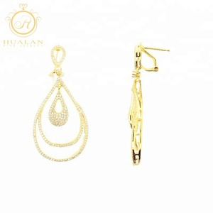 Online Shop Chinese Yellow Gold Plating Solid 925 Sterling Silver Women Jewelry Gold Bali Earrings Designs
