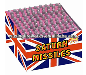 100 Shots Barrage Saturn missiles battery fireworks