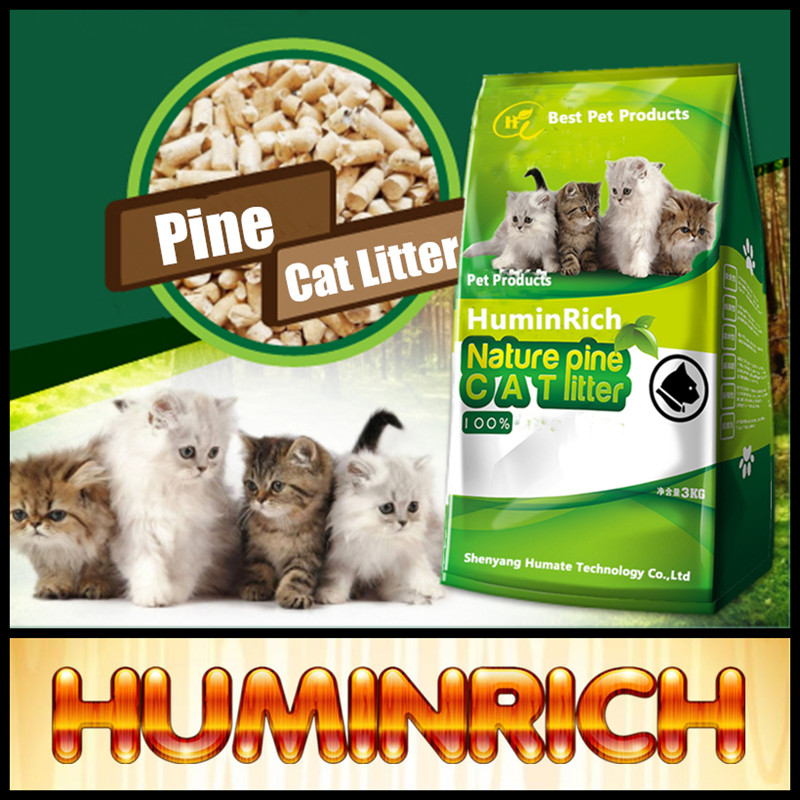 Huminrich Pine Wood Cat Litter With Non-Toxic Material