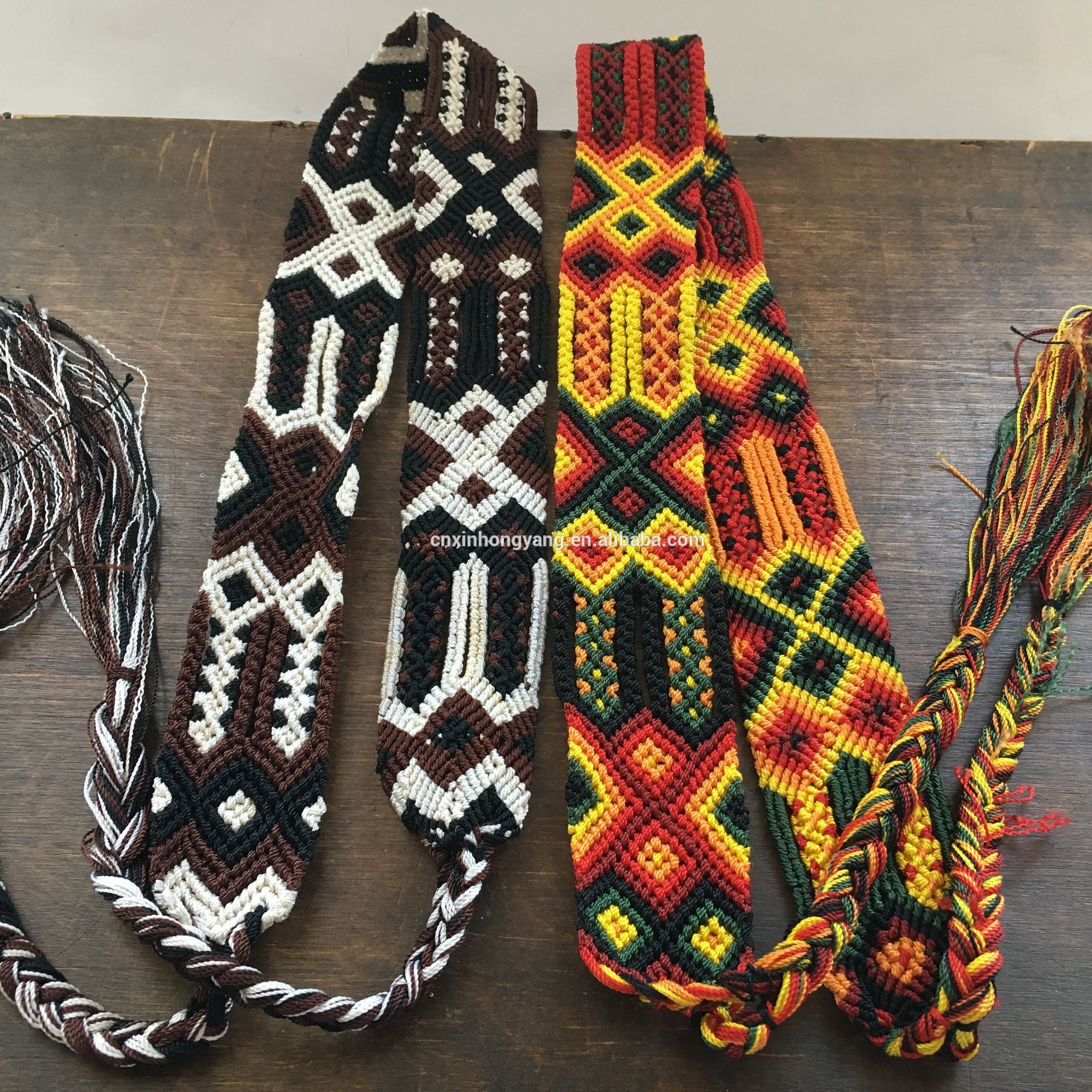 25 years factory custom macrame hand woven belts, weave friendship belt, purse strap in various colors