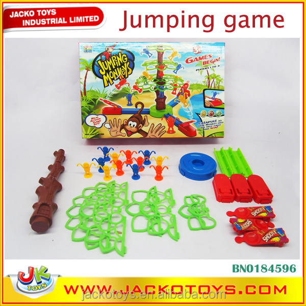 plastic ABS Funny educational toys jumping monkey game