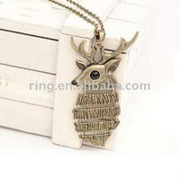 Restore ancient ways Christmas sweater chain long deer Necklace Pendent
