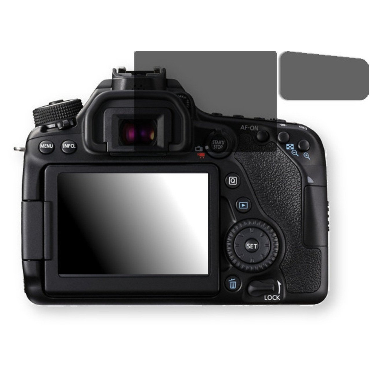 Golebo Screen Film for Privacy protection black for Canon EOS 80D - PREMIUM QUALITY