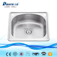 Inox single bowl topmount installation 500 x 420 mm kitchen dish washing sink in Foshan city