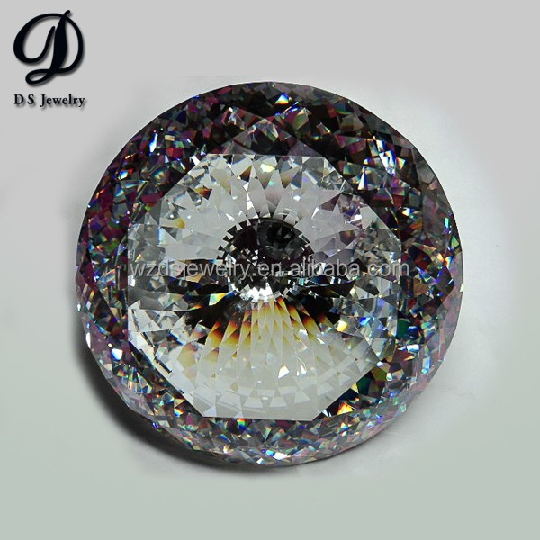 Dazzling big size speical cut cubic zirconia for decorated