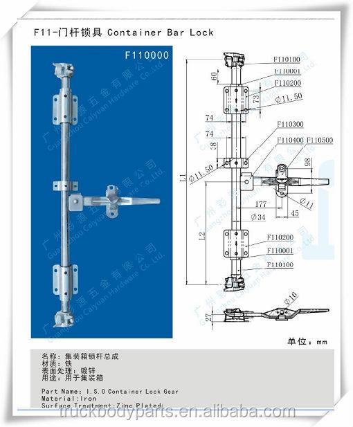 Container Door Gear,Container Repairs,Cargo Container Door Lock ...